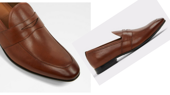 Aldo's Etianna Brown Leather Loafers