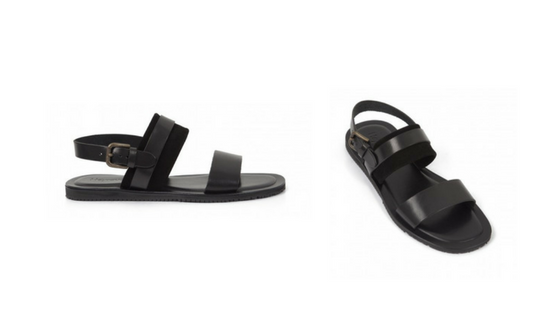 Heyraud's Black Euripide Sandals